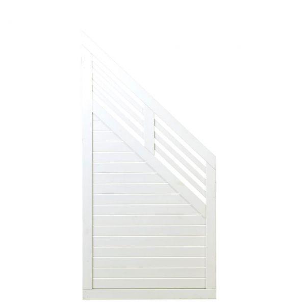 Sichtschutzwand Holz, Dekora weiß