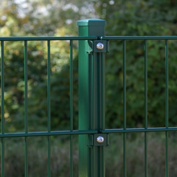 Zaunpfosten für Doppelstabmatte 60cm, grün