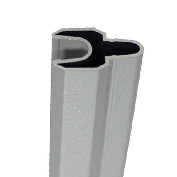 Alu-Dekorleiste BPC Steckzaun SOLID-XL, silbergrau