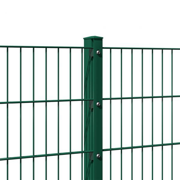 Zaunpfosten für Doppelstabmatte 200cm, grün
