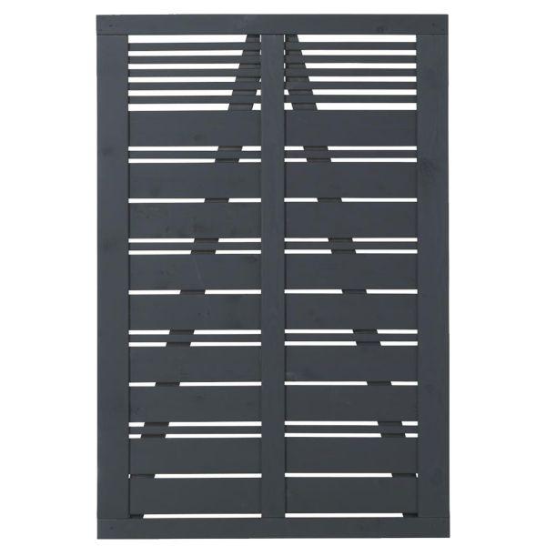 Tür zu Sichtschutz Holz, Silence anthrazit-grau