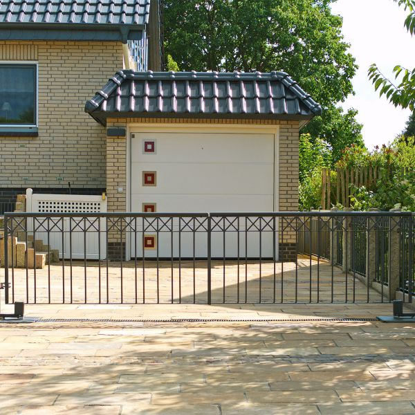 Toranlage 2-flügelig - Metallzaun Parkallee H: 120cm