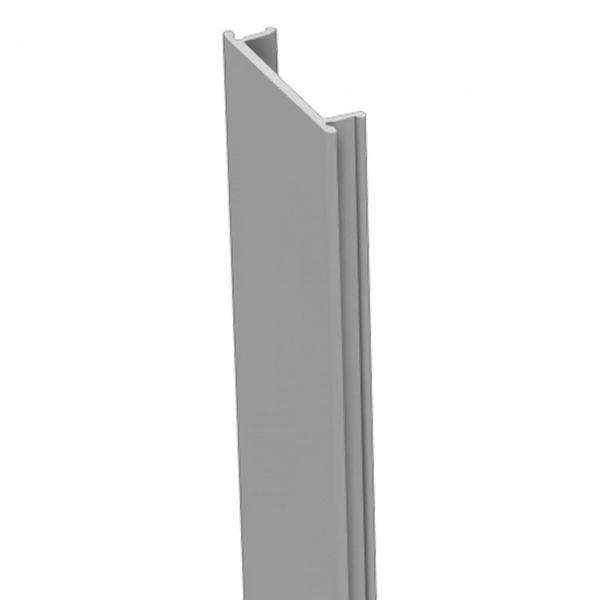 Nutlleiste für Alu-Pfosten 7x7 Steckzaun HPL-Steckzaun, silbergrau