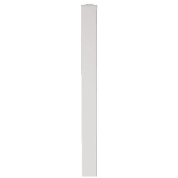 Pfosten Light-Line 9 x 9 cm, weiß