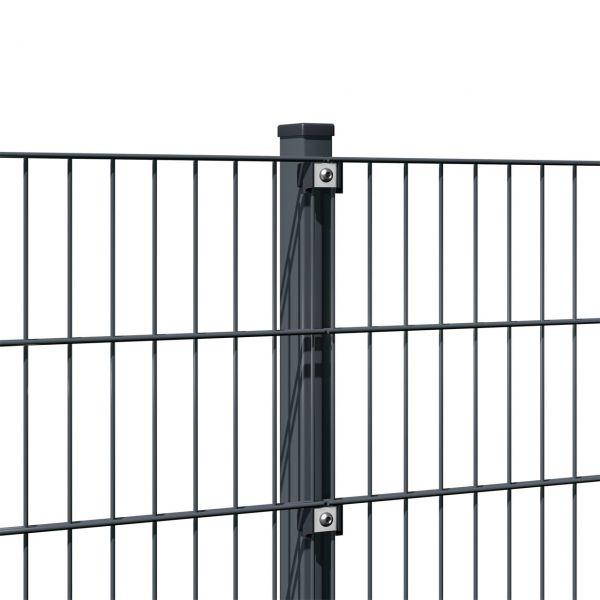 Zaunpfosten für Doppelstabmatte anthrazit 200cm