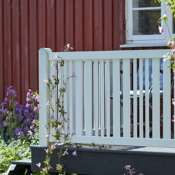 Gartenzaun Holz, Classico weiß