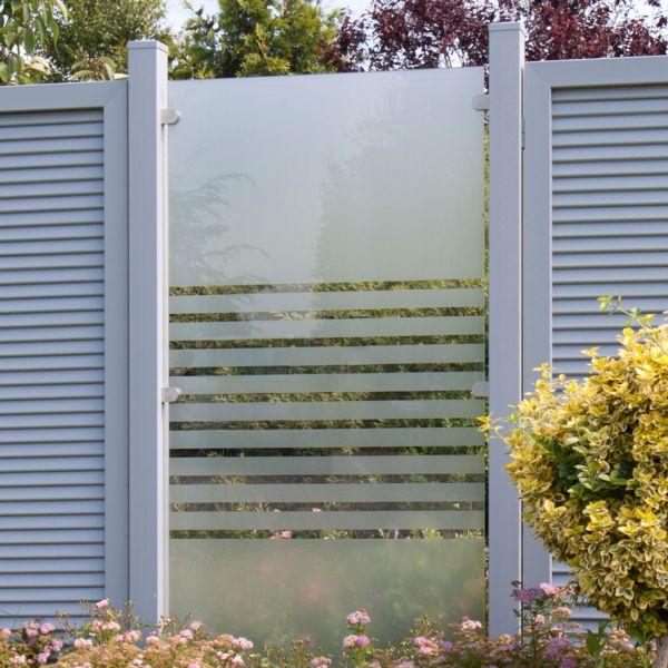 Glas-Sichtschutzzaun, Ambiente Streifen