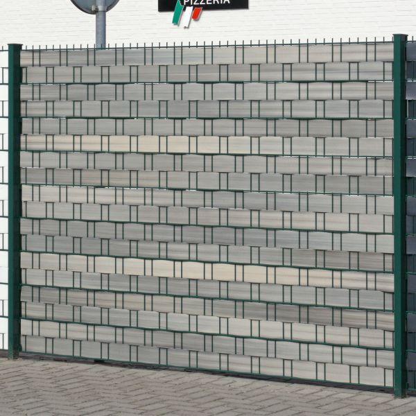 Sichtschutzstreifen Hart-PVC, Woodline lärche-grau