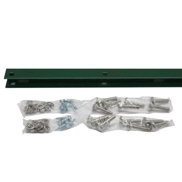 Zaunanschluss-Set Zaunhöhe 123 cm, grün