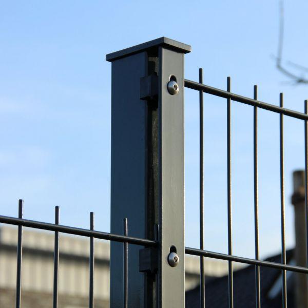 Zaunpfosten für Doppelstabmatte anthrazit 60cm