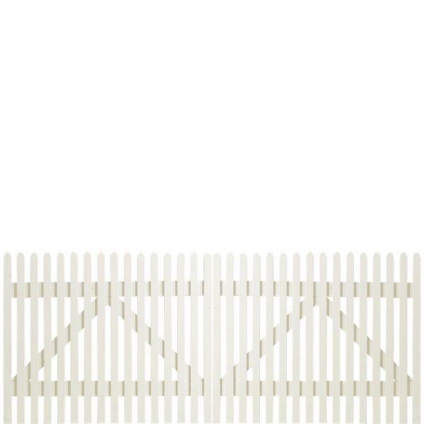 Gartenzaun Holz Stockholm, weiß 80 cm