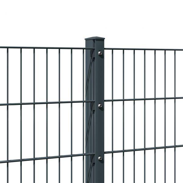 Zaunpfosten für Doppelstabmatte anthrazit 80cm