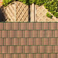 Polyrattan-Sichtschutzstreifen, mocca/anthrazit Höhe x Länge:19 x 200 cm