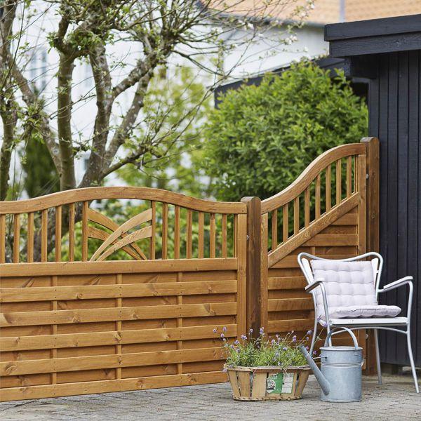 Holz Sichtschutz-Zaun, Ronda teak
