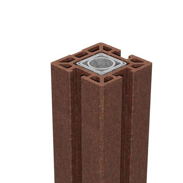 BPC Pfosten 10x10 Stecksystem, SOLID terra-braun